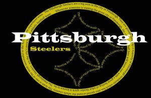 Third Pittsburgh Steelers Text Art by mjb1225