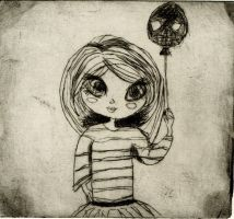 Little Girl with balloon by Angel-gotic