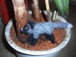 Needle felted standing silver fox plushie by ArcticIceWolf