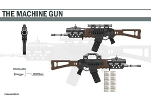 Machinegun by Conteart