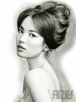 Song Hye Kyo Drawing by riefra