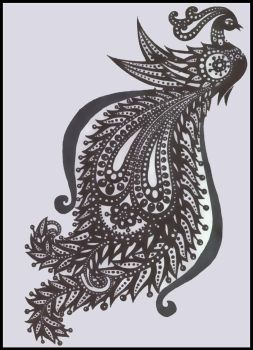 tribal peacock by candyillusion