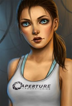Test Subject Chell by FiSilva