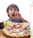 GREAT LITTLE BOY EATING PIZZA by DaddySteam