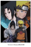 sasuke and naruto-shippuden by rosinaxd