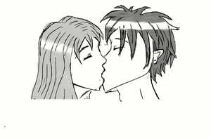 How to draw people kissing by ThoyaSkywalker