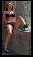 black lingerie on the ledge by clearphoto1