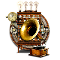 Steampunk VLC Audio Player Icon MkII by yereverluvinuncleber