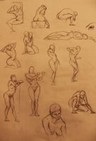 Life Drawing 2 and 5 min by marvelmania
