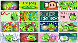 Green pigs stamps by RiverKpocc