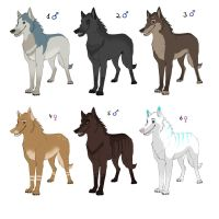 POINT Wolf Adoptables by SabrinaDeets
