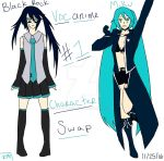 Vocanime Character Swap! #1 ~ Miku and Black Rock! by LenFan20