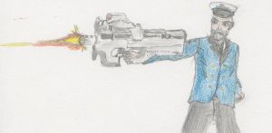 Hobbes with a P90 by IamHaden