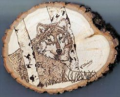 small wolf on basswood by GingerC