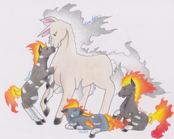 Fire ponies by CheruCheriPie