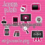 Iconos pink by PrettyLadybug093
