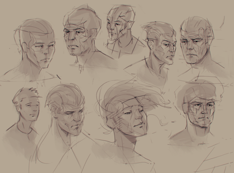 Head Study from imagination by Feirun