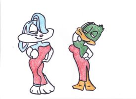 Lady Buster and Dame Plucky by Buster1991