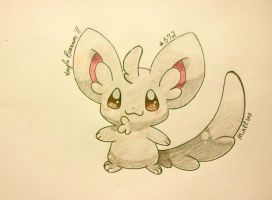 Minccino by ApocalypseKitty