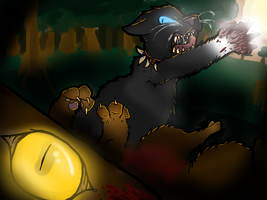 Tigerstar's Death - Warriors by DoodleBiz