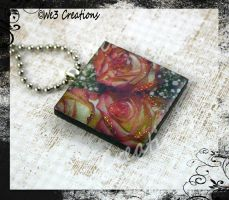 Rose Garden Art Pendant by kelleejm1