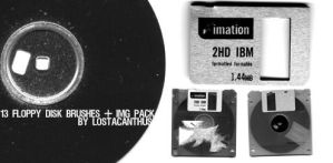 Photoshop Floppy Disk Brushes by LostAcanthus