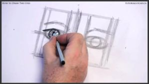 Learn how to draw two eyes 008 by drawingcourse