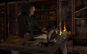 Wizard At His Desk by BrainwavePictures