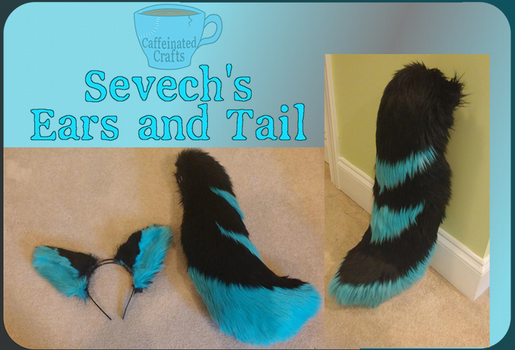 Sevech's ears and tail by caffeinatedcrafts
