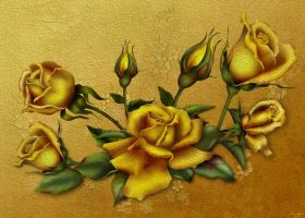 Golden Rose by chamirra