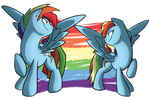 Two Rainbows by NolyCS