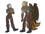 Pilots of Wanderer Chimera by Kory Bing by Q99