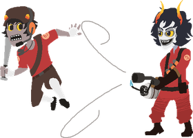 TF2Stuck Karkat and Gamzee by MarshmallowInvader
