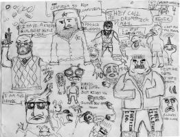 12 AM Drawings August 18 2012 by DrDoughnut