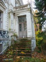 abandoned stairs by mimose-stock