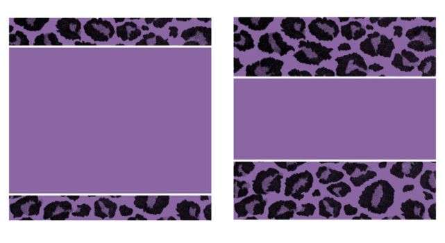 Purple and Black Leopard Paper and Business Card by StacyO