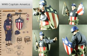 WWII Captain America by sfumato21