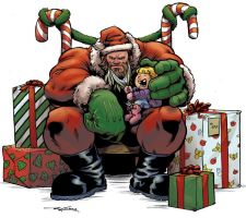 Zangief Santa by streetfighterart
