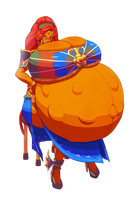 Urbosa's Motherhood - NoBG by bellydoom