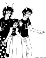 Karkat: Use your tall friends as a shield by lildogie
