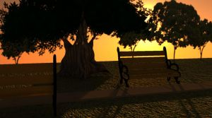 Sunset at the park by pepperalchemist