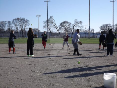 Softball Practice (13) 4-15-14 by WantsToLoseHerMask
