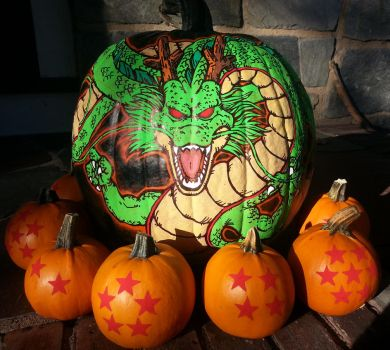 Dragon Ball Pumpkins by MyCKs