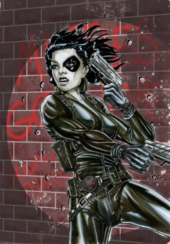 X-men's Domino by Szigeti