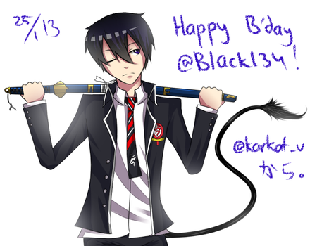 happy birthday black by emoMaka