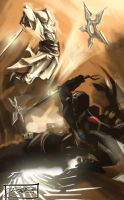Snakeyes vs Stormshadow by daguillo84