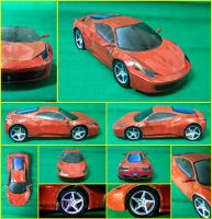 Ferrari F458 Papaercraft by Mironius