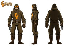 Lobster Johnson redesign by skinygalaxier