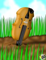 Violin in the Ground by K-S-O