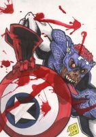 Zombie Colonel America PSC by chris-foreman